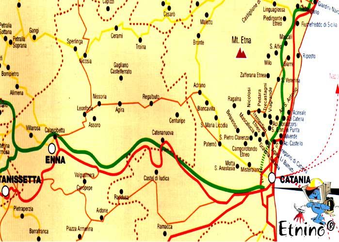 Cartina sicilia etna centro orientale in questa sezione abbiamo riportato una cartina con le pi importanti localit escursionistiche della sicilia orientale altavistaventures Image collections