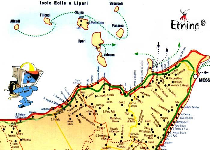 Cartina sicilia nord orientale in questa sezione abbiamo riportato una cartina con le pi importanti localit escursionistiche della sicilia orientale altavistaventures Image collections