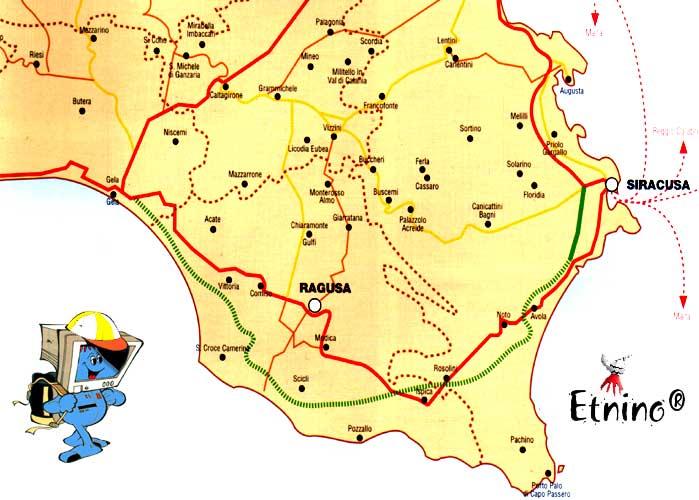 Cartina sicilia sud orientale in questa sezione abbiamo riportato una cartina con le pi importanti localit escursionistiche della sicilia orientale altavistaventures Image collections